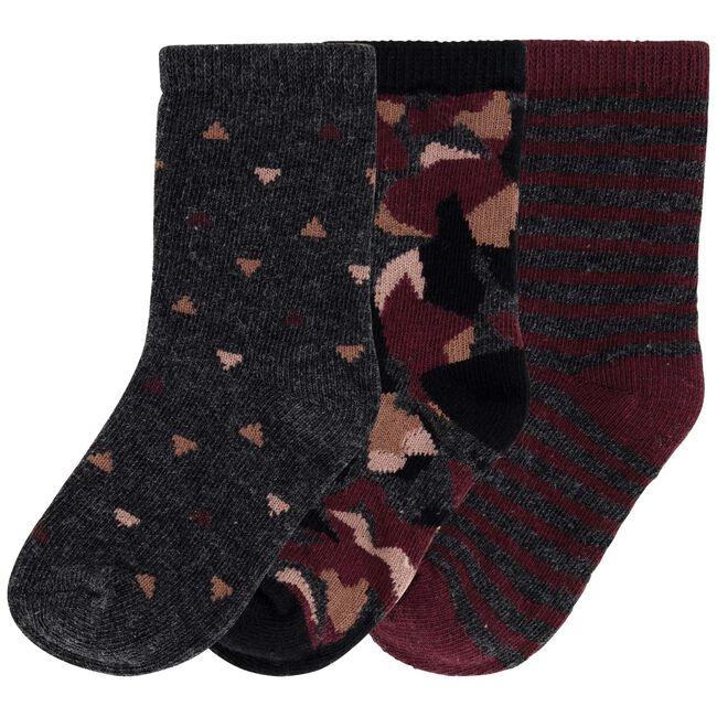 Prénatal jongens sokken 3 stuks - Rock Grey Melange