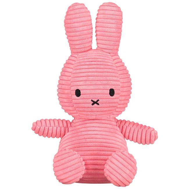 Nijntje knuffel corduroy 23cm - Blossom Pink