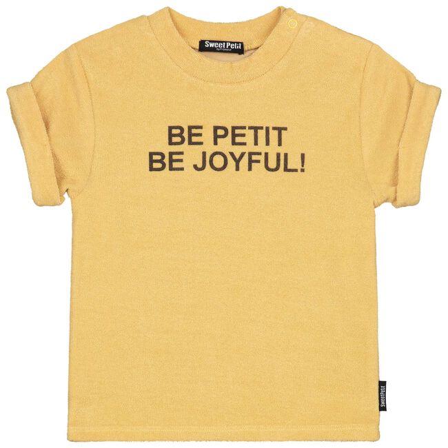 Sweet Petit peuter jongens shirtje - Darkyellow
