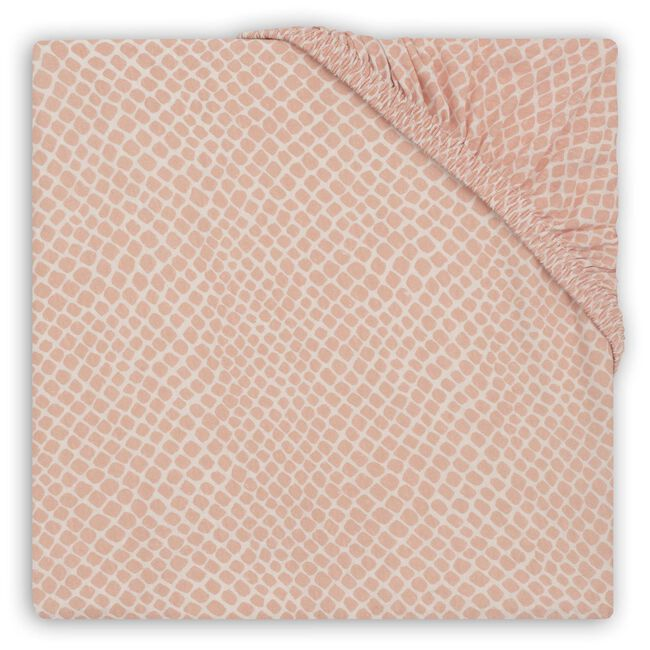 Jollein ledikant hoeslaken - Light Pink