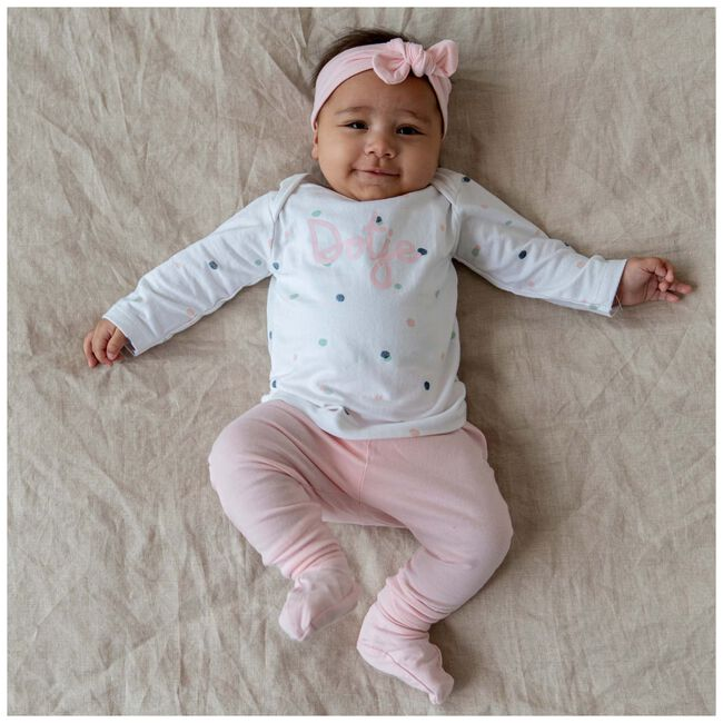 Prenatal newborn meisjes shirt Dots - White