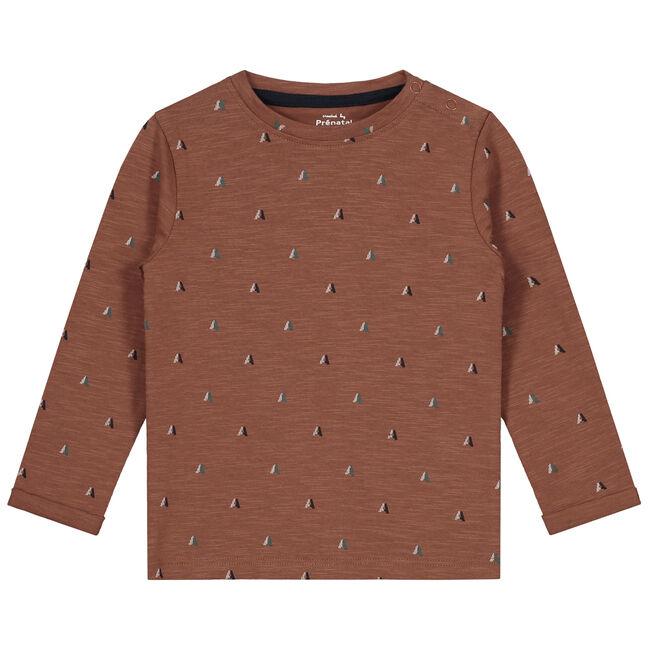 Prénatal baby jongens t-shirt - Dark Sienna