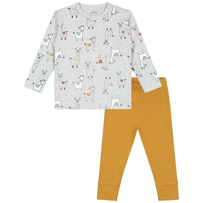 Prenatal jongens peuter pyjama - Ecru Melange