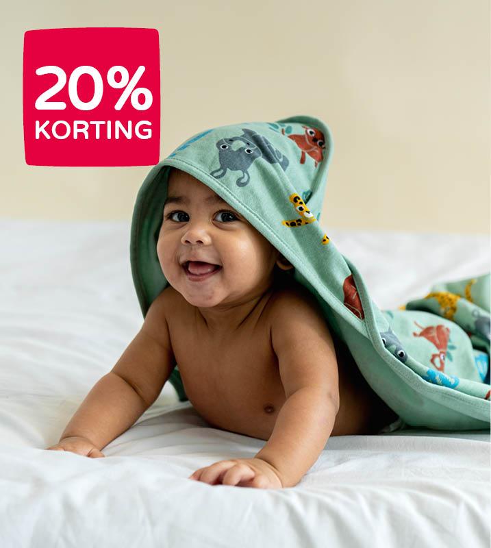20% korting op geselecteerde badcapes
