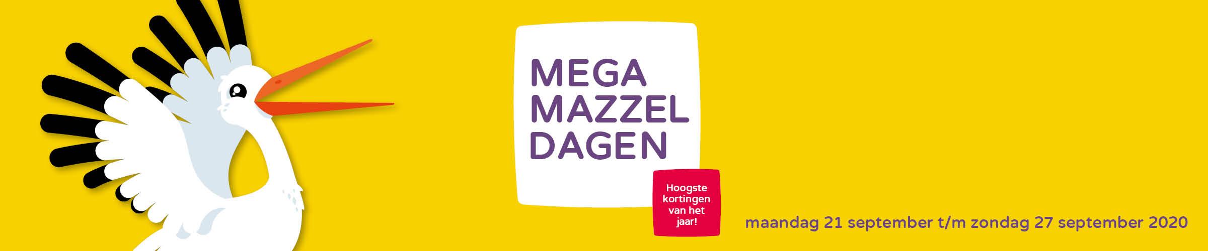 De Mega Mazzeldagen is het kortingsfeestje van Prénatal